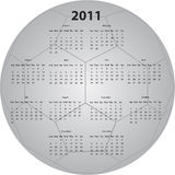 Soccer Ball Calendar. 2011 Calendar in the shape of a Soccer ball Royalty Free Stock Images