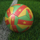 Soccer Ball with Cameroon Flag Stock Photography