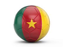 Soccer ball Cameroon flag Royalty Free Stock Photography