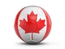 Soccer ball Canada flag Royalty Free Stock Photography