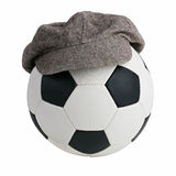 Soccer ball with a cap Stock Images