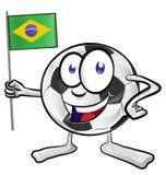 Soccer ball cartoon Stock Photography