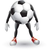 Soccer ball cartoon character. Cartoon character of a soccer ball Stock Photos