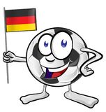 Soccer ball cartoon. With germany flag Royalty Free Stock Image