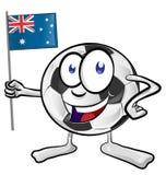 Soccer ball cartoon. With Australian Flag Royalty Free Stock Photo