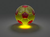Soccer ball with caustic effect Royalty Free Stock Image