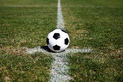 Soccer Ball On Center Royalty Free Stock Images