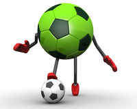 Soccer ball character Stock Images