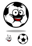 Soccer ball character with happy face Royalty Free Stock Photos