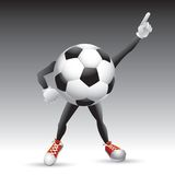 Soccer ball character striking a pose Stock Image