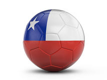 Soccer ball Chile flag Stock Photography
