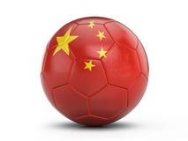 Soccer ball China flag Royalty Free Stock Photos
