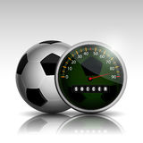 Soccer ball clock. Full time soccer match 90 minute Royalty Free Stock Image