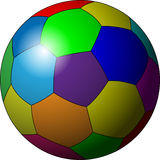 Soccer ball in color Royalty Free Stock Photo