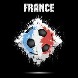 Soccer ball in the color of France Stock Photo