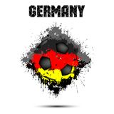 Soccer ball in the color of Germany. Abstract soccer ball painted in the colors of the Germany flag. Vector illustration stock illustration