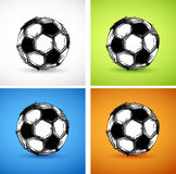 Soccer ball color set Stock Images