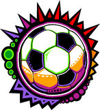 Soccer Ball Colorful Mosaic Vector Design Stock Images