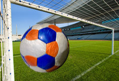 Soccer Ball Coming Stock Image