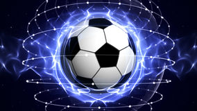SOCCER BALL Computer Graphics Background Stock Image
