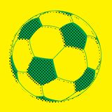 Soccer ball. Concept for Brazil 2014 football championship. Soccer ball with color of Brazil flag Royalty Free Stock Photos