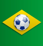 Soccer ball, concept for Brazil 2014 football cham Royalty Free Stock Photos