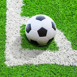 Soccer ball on conner Royalty Free Stock Photos