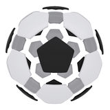 Soccer ball consisting of unconnected parts. Isolated render on a white background Royalty Free Stock Photos