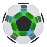 Soccer ball consisting of unconnected parts. Isolated render on a white background Royalty Free Stock Images