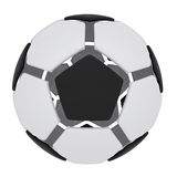 Soccer ball consisting of unconnected parts. Isolated render on a white background Stock Photo
