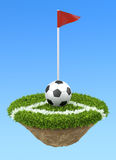 Soccer ball on the corner Royalty Free Stock Photography