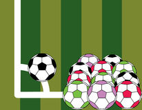Soccer. Ball is corner kick on the field Royalty Free Stock Photo