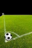 Soccer Ball on Corner Point Royalty Free Stock Photography