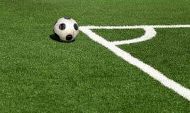 Soccer ball,corner- selective focus Stock Image
