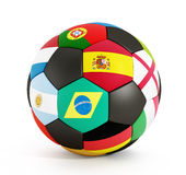 Soccer ball with country flags Stock Image