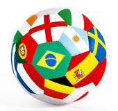 Soccer ball with country flags Stock Photo