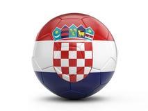 Soccer ball Croatia flag Royalty Free Stock Photography