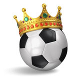 Soccer ball with crown Stock Images