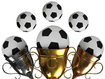 Soccer ball with crown. On a white background Royalty Free Stock Photos