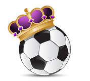 Soccer ball with a crown Stock Images