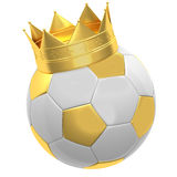 Soccer ball with crown. On a white background Stock Image