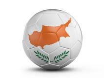 Soccer ball Cyprus flag Stock Photos