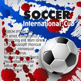 Soccer ball 3d poster of football sport template Royalty Free Stock Photos