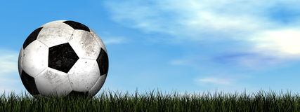 Soccer ball - 3D render Royalty Free Stock Photography