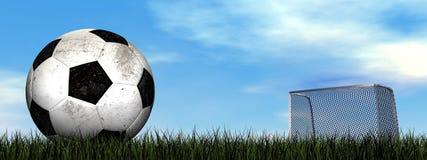 Soccer ball - 3D render Royalty Free Stock Photos