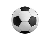 Soccer ball 3d render isolated on white Royalty Free Stock Photo