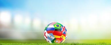 2018 soccer ball 3d rendering. Design Stock Images