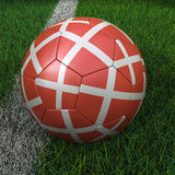 Soccer Ball with Danish Flag Royalty Free Stock Image