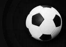 Soccer ball on dark Stock Image