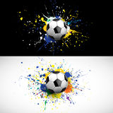 Soccer ball dash on colorful background,  & illustration Royalty Free Stock Images